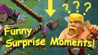 Funny Moments in Clash of Clans with Push traps and more!