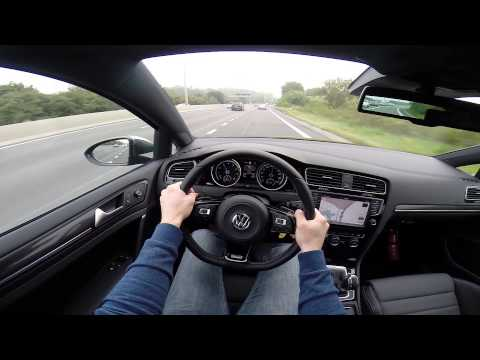 VW 2014 Golf R 300BHP POV test drive GoPro