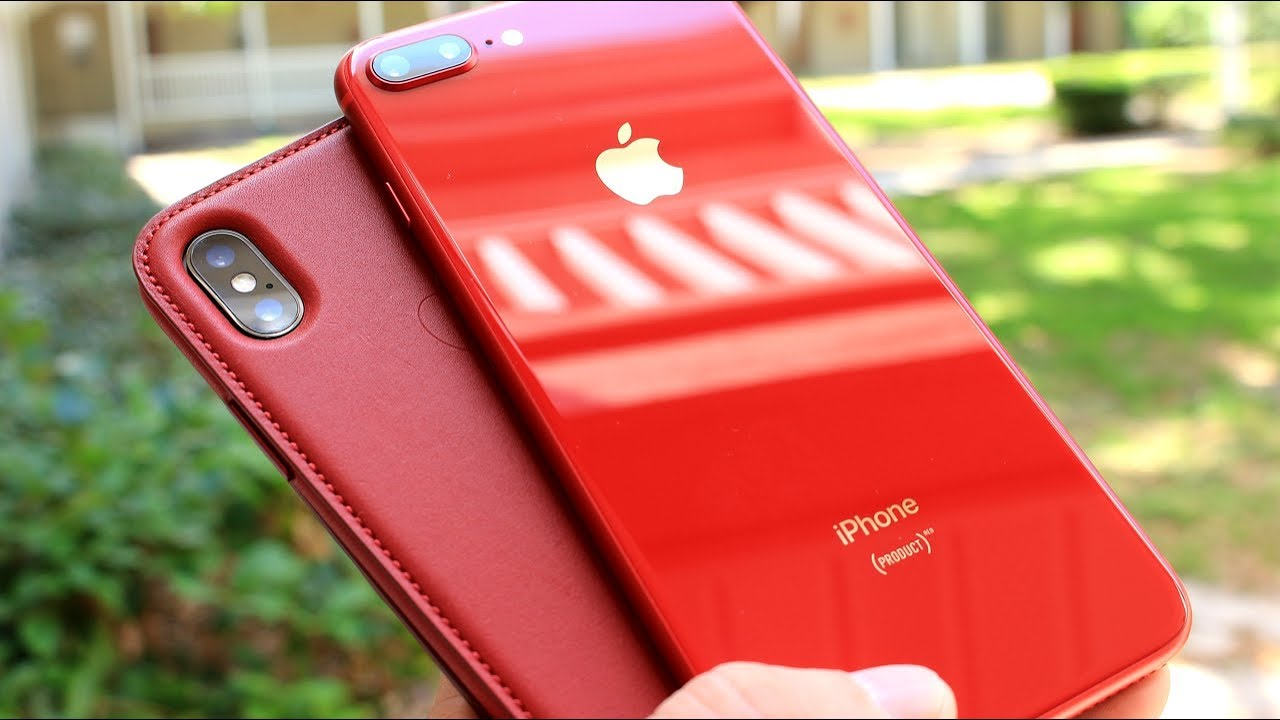 best sneakers d22a2 17d73 iPhone 8 Plus RED & iPhone X Red Leather Folio Case