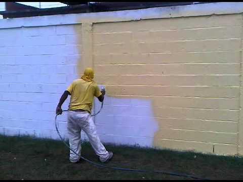 Pintura en esmalte sobre paredes airless youtube - Maquinas para pintar ...