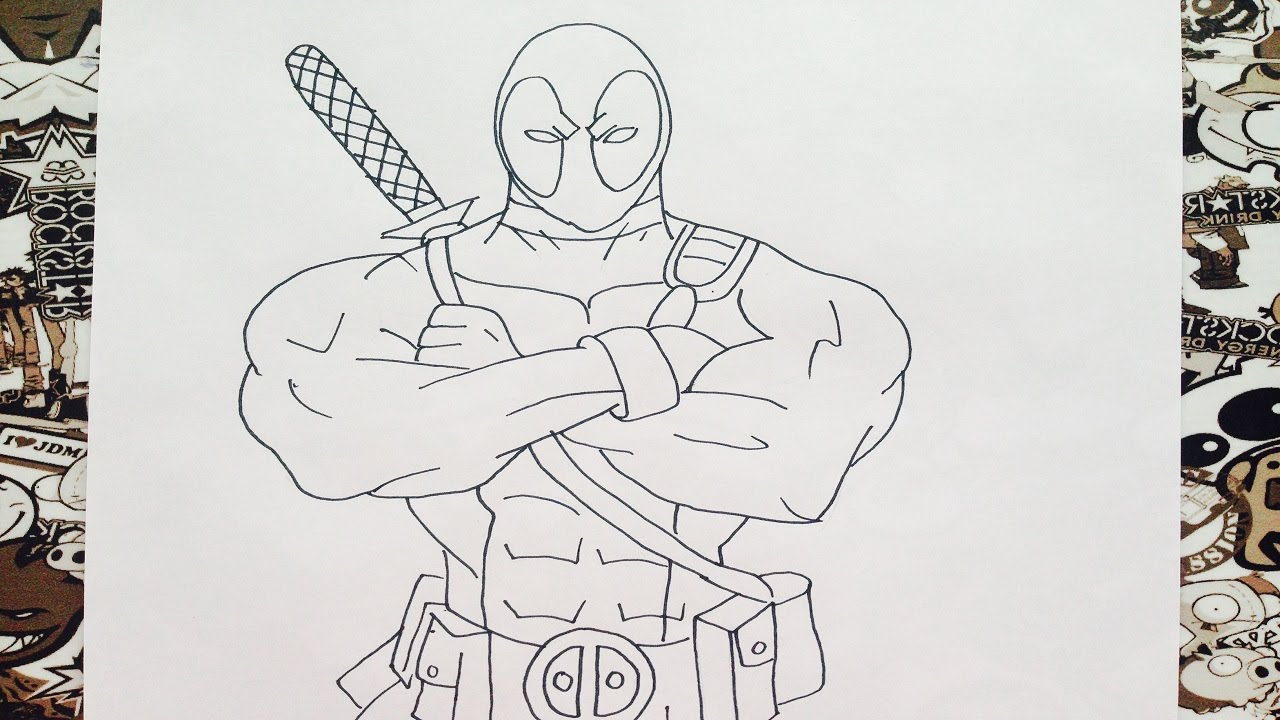 Como dibujar a deadpool  how to draw deadpool  YouTube