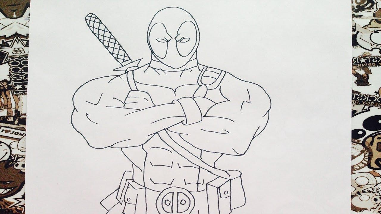 Como dibujar a deadpool | how to draw deadpool | como desenhar o ...