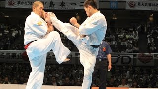 The 46th ALL JAPAN KARATE TOURNAMENT Men final Kembu Iriki vs Yuji ...
