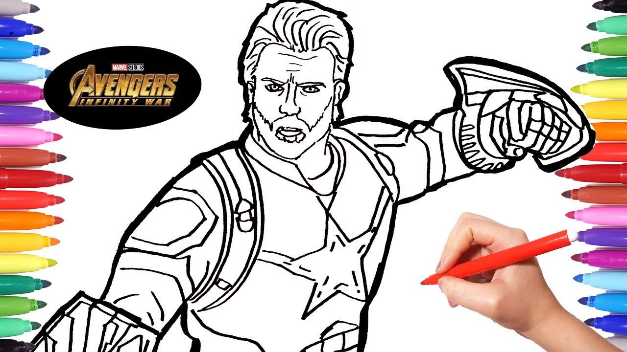 Avengers Infinity War Captain America | Avengers Coloring ...