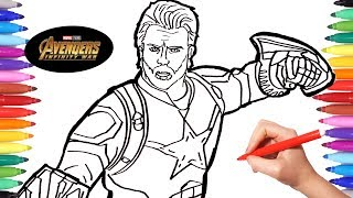 Avengers Infinity War Captain America | Avengers Coloring Book | Coloring Pages | Avengers