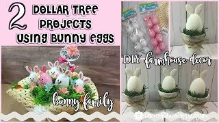 2 - DOLLAR TREE Projects Using Bunny Eggs // Bunny Family & DIY Farmhouse Decorations