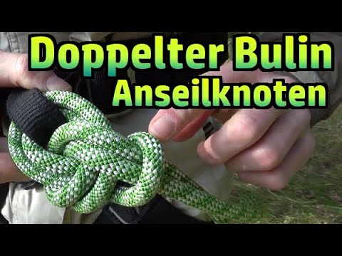 Klettern Anseilknoten Doppelter Bulin Palstek Und Achterknoten