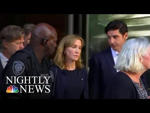 Felicity Huffman's 14-Day Prison Sentence Sparks Debate | NBC Nightly News