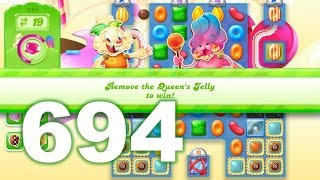 Candy Crush Jelly Saga Level 694 (3 star, No boosters)