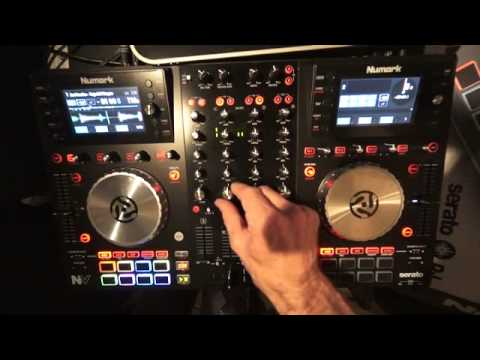 NUMARK NV CONTROLLER DEMONSTRATION WITH THE CUES AND  EFFECTS