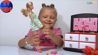 ✔ Барби и Ярослава. Набор для Куклы: Музыкальная Шкатулка. Barbie doll and Yaroslava / Music Box  ✔