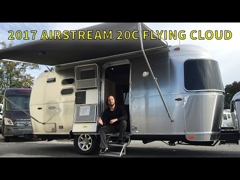 Excellent 2017 Airstream Sport Bambi (micro!) Camper TOUR  Super Tiny! Solo Full Time Camper Living ...