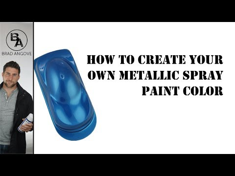 Cool spray can trick how to create your own metallic for How to make your own spray paint