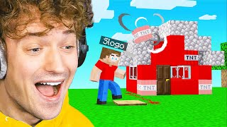 I MADE SLOGO BLOW UP His NEW HOUSE! (Minecraft)