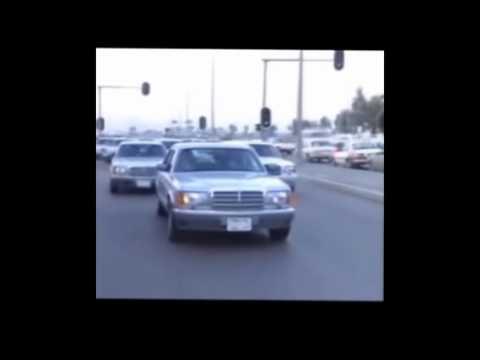صدام حسين يقود سيارته بنفسه في شوارع بغداد / مفاجأة