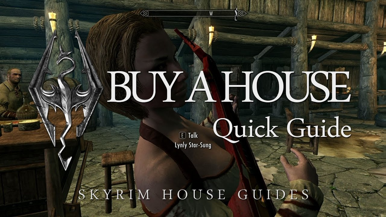 What are some ways to get a house in Skyrim?