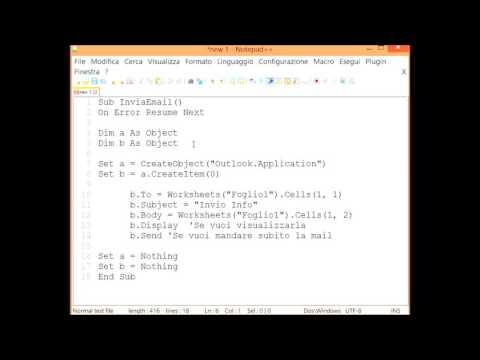 Invio E-Mail da Excel con Macro VBA