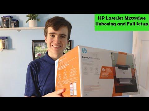 HP LaserJet M209dwe Unboxing and Setup