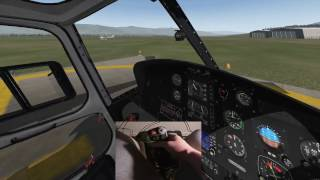 X-PLANE 11 - Learning to fly a helicopter like a pro (with stick cam!) - Ep1