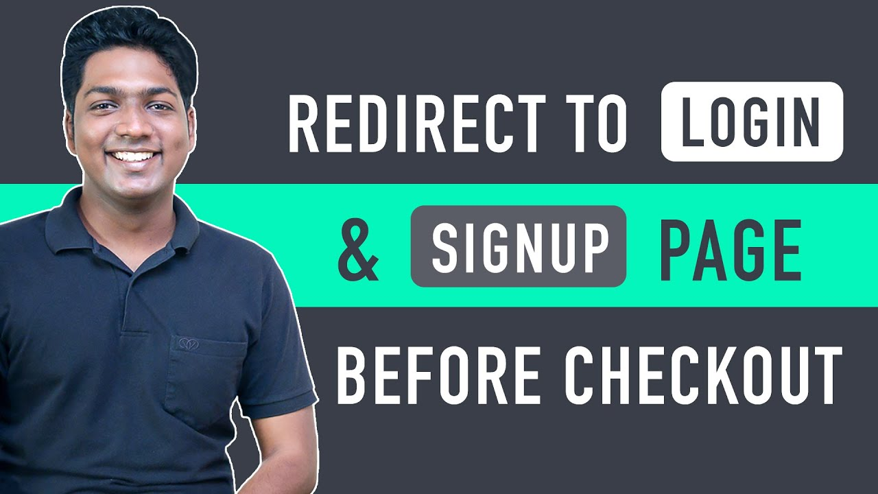 How To Add Login & Signup Page Before Checkout