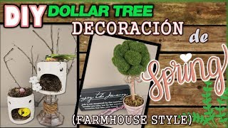 DIY DOLLAR TREE FARMHOUSE DECOR | TOPIARY TREE | BIRD HOUSE | DIY Home & Crafts