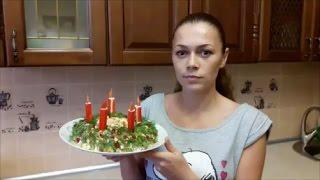 Салат рецепт Праздничный рецепт Салат с крабовыми палочками Праздничное УКРАШЕНИЕ