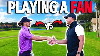 I Challenged A Fan To A 9 Hole Match | Micah Morris