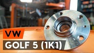 How to change Drum brake shoe support pads on VW GOLF V (1K1) - online free video