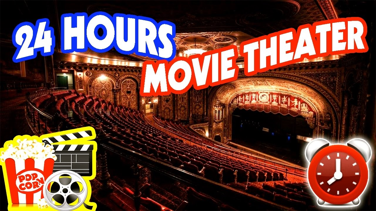 scary 24 hour overnight at haunted movie theater