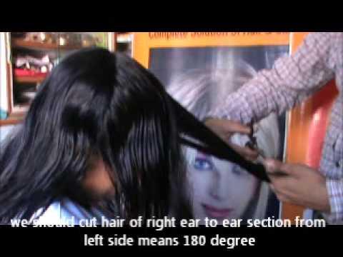 V Hair Cut Video For Straight Hair Youtube