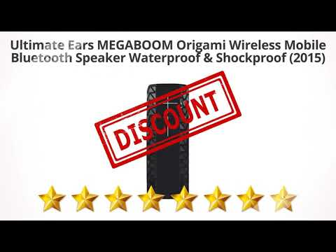Ultimate Ears MEGABOOM Origami Wireless Mobile Bluetooth Speaker  | Review and Discount