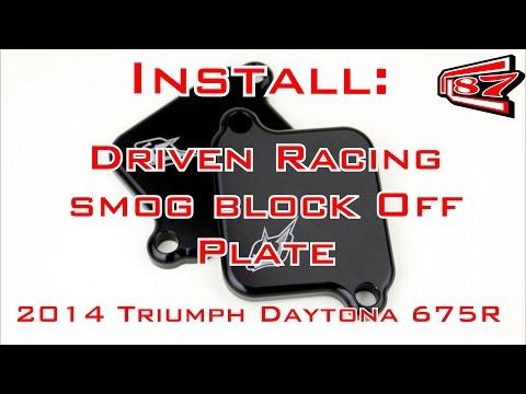 Triumph Daytona R Smog Block Off Install
