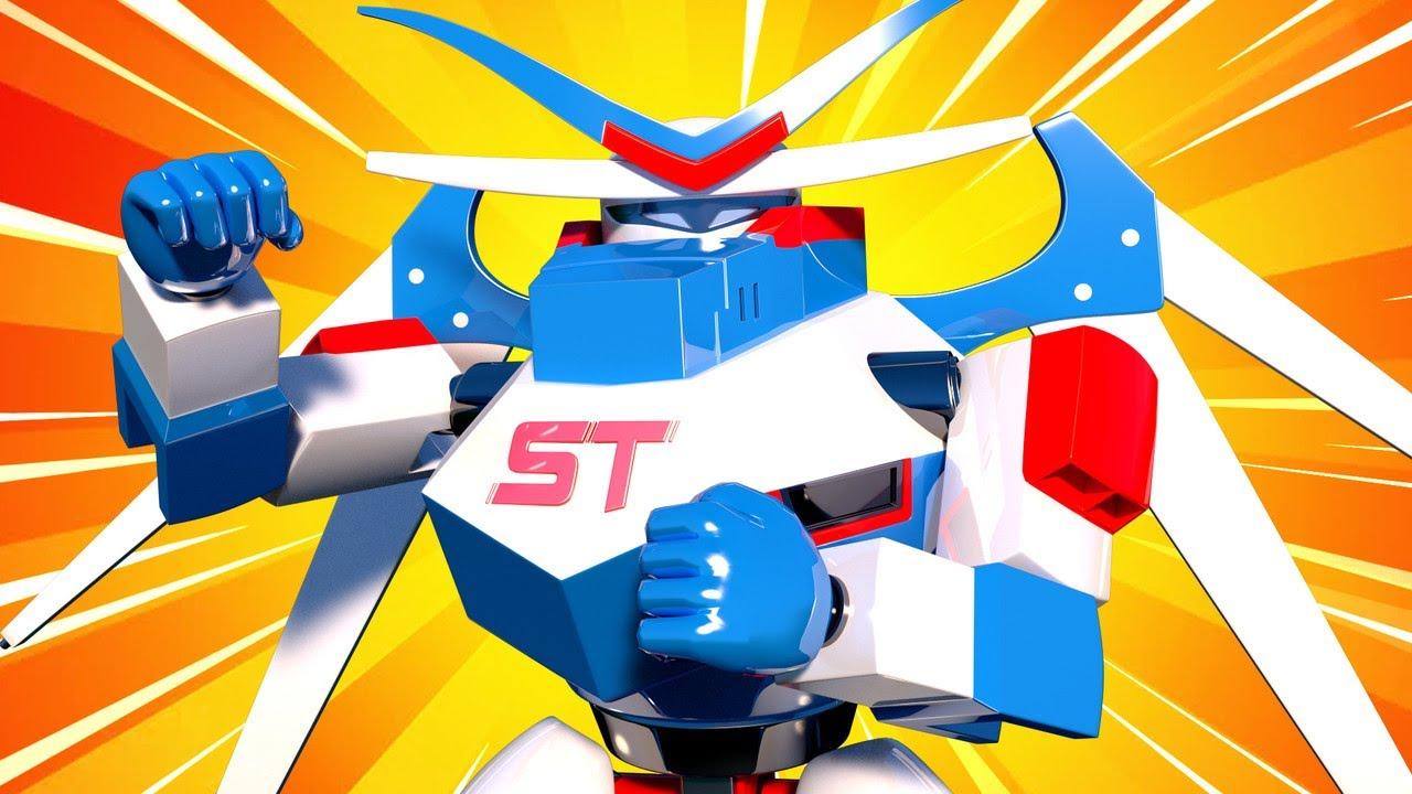 Гигантский робот - Трансформер Карл в Автомобильный Город