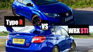 2016 Honda Civic Type R VS Subaru WRX STI - Inside Lane