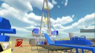 Simulador de Plataforma Onshore (3D Drilling Rig Simulation)