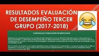 Soy Docente: RESULTADOS EVALUACIÓN DE DESEMPEÑO (2017-2018)