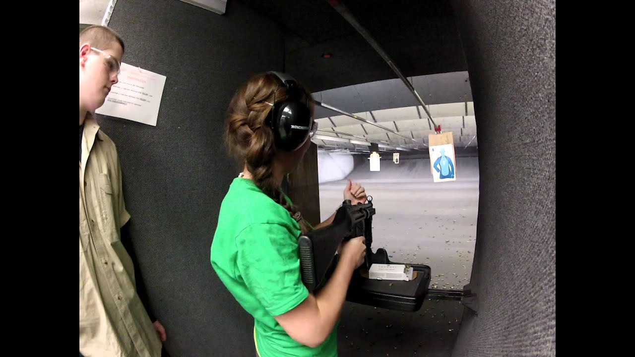 Tina plus full auto H&K MP5, Blue Ridge Arsenal, VA - YouTube