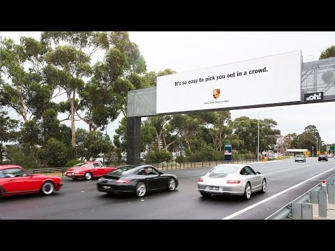 Interactive Billboard Picks Out Passing Porsches for Ego-Stroking