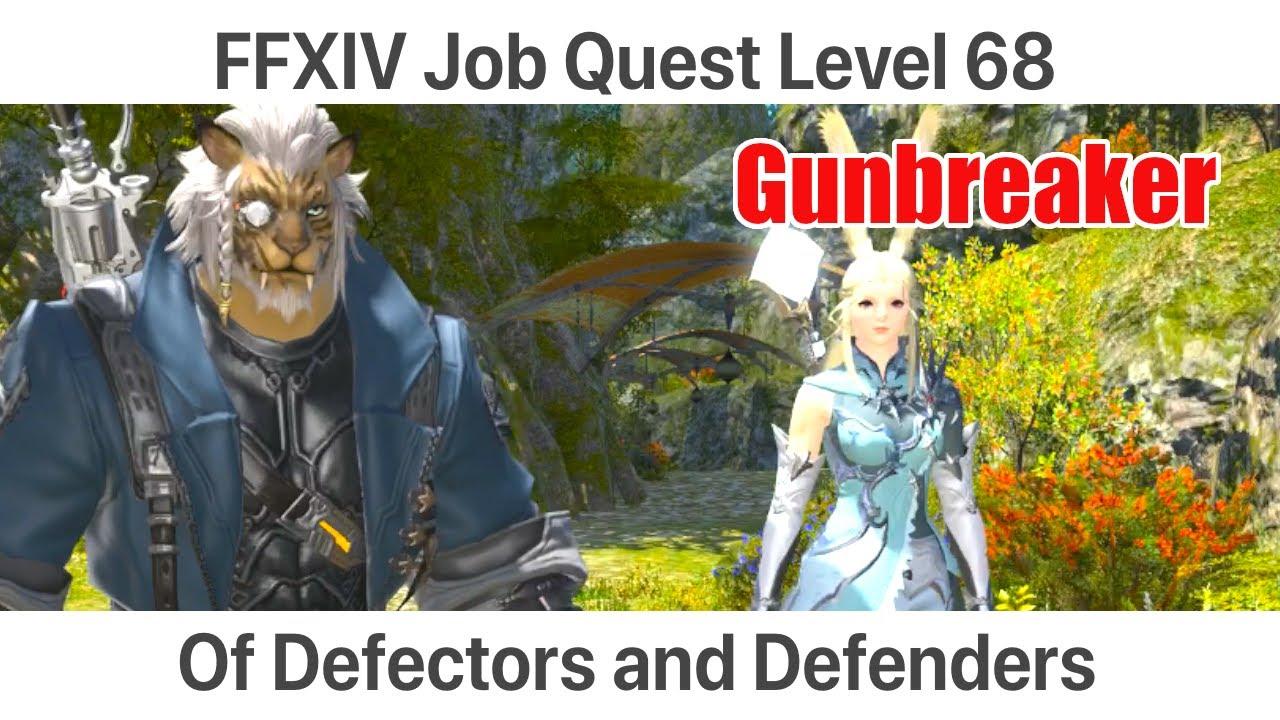FFXIV Gunbreaker Level 68 Job Quest - Of Defectors and Defenders -  Shadowbringers