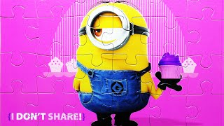 Puzzle Games Despicable Me MINIONS Kids Toys Playset Rompecabezas De Play Learn Puzzles