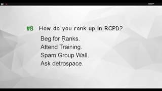 How TO Pass RCPD in Roblox