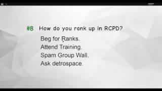 Come passare RCPD a Roblox