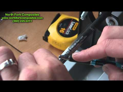 -North Fork Composites Rod Blank Decal Install-