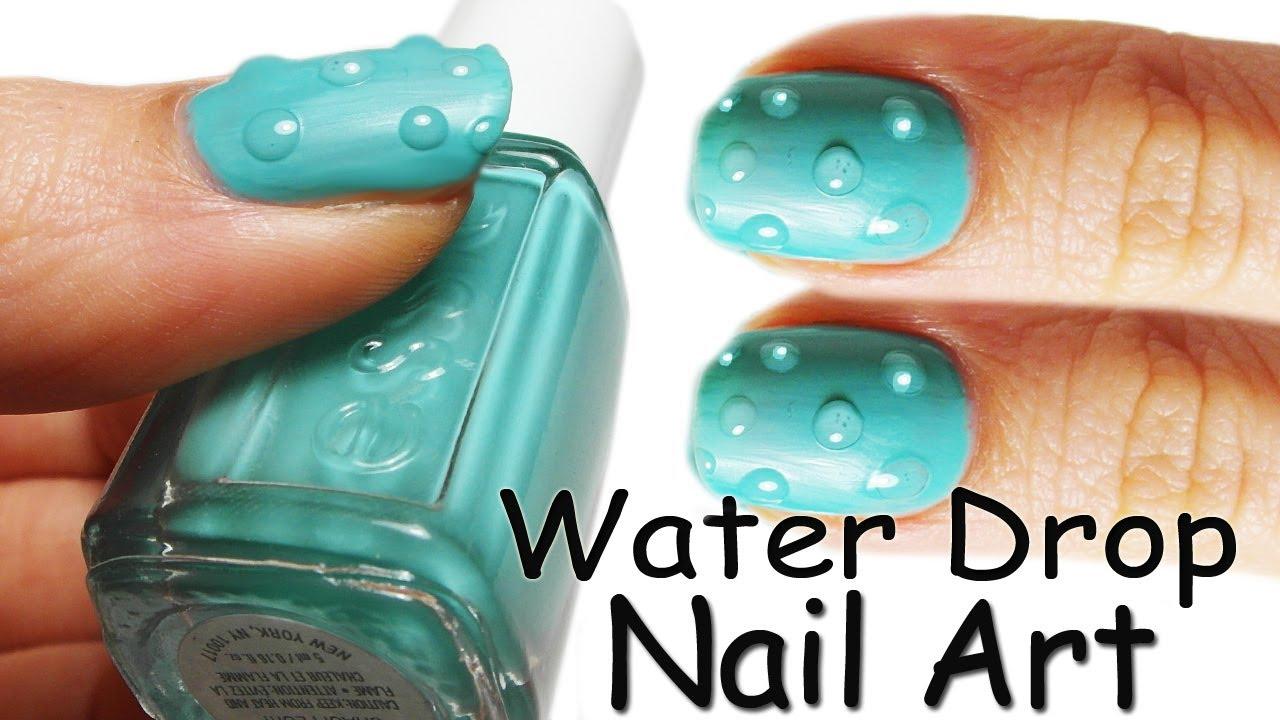 Nails Art: Nail Art Tutorial Gocce Di Acqua