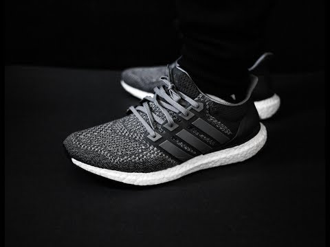a63658a9ae79d 1-Minute Unboxing- THROWBACK Ultra Boost Mystery Grey 1.0 + onfoot ...