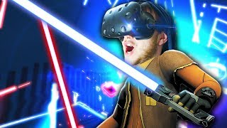 ЛАЗЕРНЫЙ ДАБСТЕП В ВР! - Beat Saber - HTC Vive