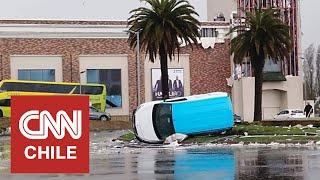 Una persona fallecida y más de 100 viviendas afectadas deja tromba marina en Talcahuano