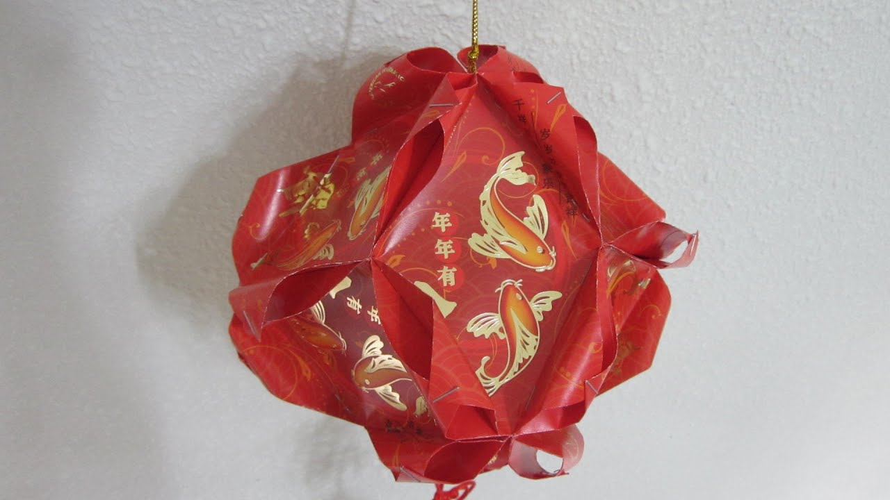 Cny tutorial no 29 12 unit red packet hongbao lantern for Ang pao fish tutorial