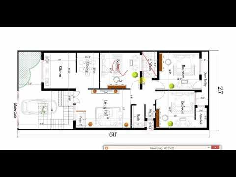 1500 sq ft 3 BHK MODERN HOUSE PLAN - YouTube