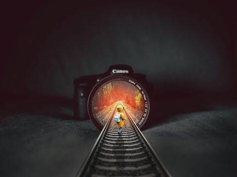 Rails Inside Illusion Photo Manipulation 2019 | KHTube Knowledge